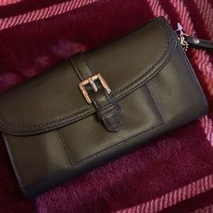Black coach clutch wallet